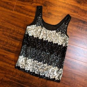 Dressy Heavily Sequined Dressy Evening Tank Top